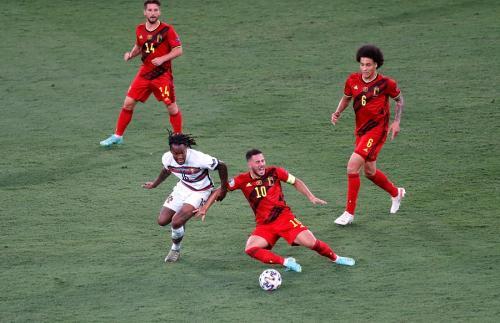 Timnas Belgia vs Portugal (Foto: Reuters)