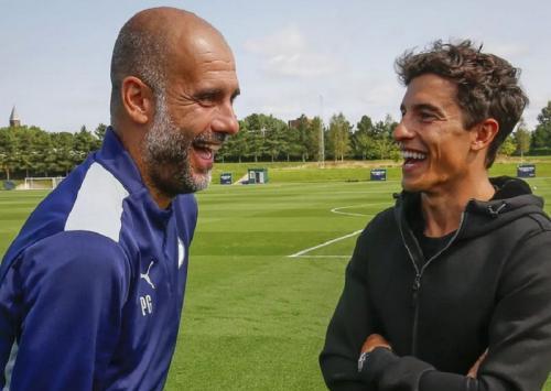 Marc Marquez dan Josep Guardiola