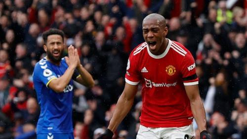 Laga Manchester United vs Everton di Liga Inggris 2021-2022. (Foto: Reuters)