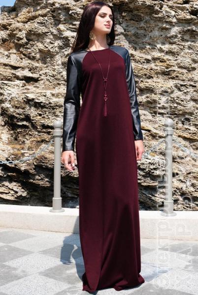 """Платье в пол """"Габриэлла"""", бордовое - Платья больших ..."""