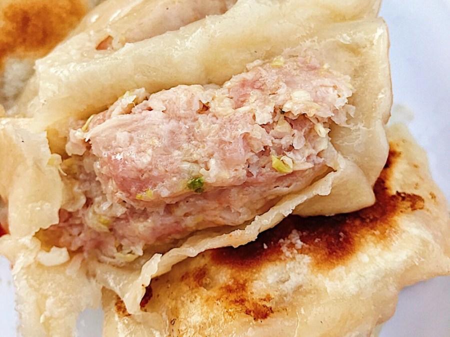 (台南美食/南區)天后宮旁隱藏版煎餃,一顆三元的大煎餃,內餡塞滿滿!