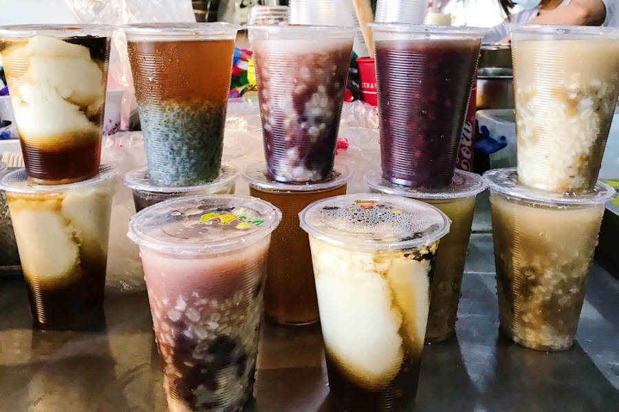 (台南美食/安南區)大杯甜湯3杯任選只要50元!在地經營17年,果菜批發市場美食-金豆漿。