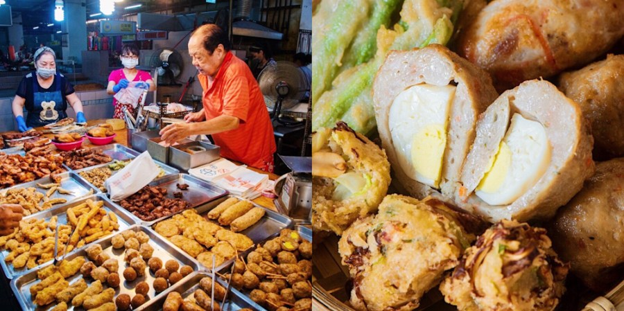 台南六十年老字號【第一家食品專營處】純手工自製的古早味炸物!蝦餅、網油雞捲,好吃到讓你叫媽媽!