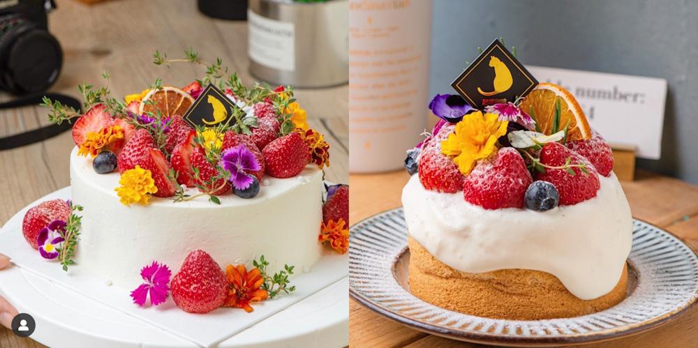 (台南美食/中西區)神農街上的肥貓咖啡,生日蛋糕推薦,內用首選珍奶伯爵戚風蛋糕,隱藏版戚風蛋糕,經典磅蛋糕,拿鐵咖啡。