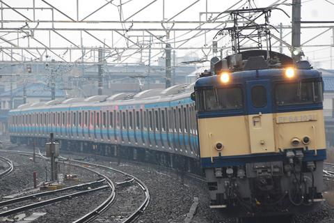 【JR東】E233系ウラ134編成配給輸送