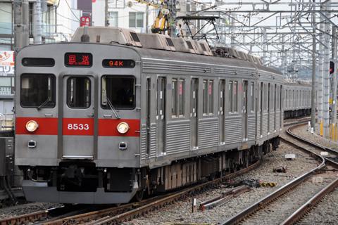 【東急】8500系8633F長津田工場入場