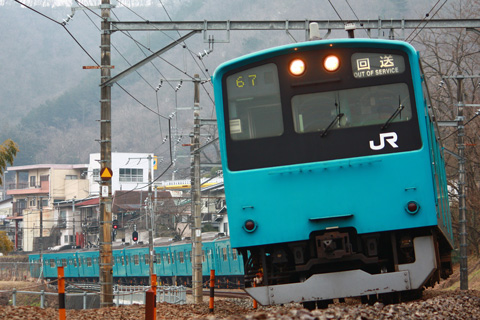 【JR東】201系ケヨ72編成廃車回送