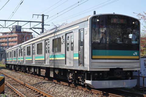 【JR東】205系ワ2編成返却回送
