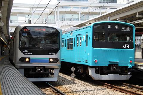 【JR東】201系K2+52編成TK出場