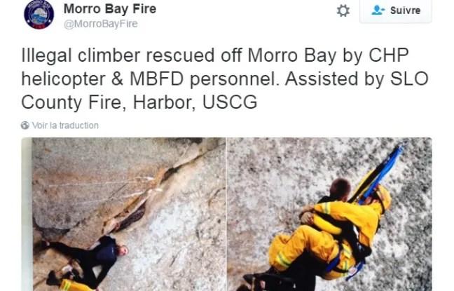 L'alpiniste en herbe devra payer la facture des secours.