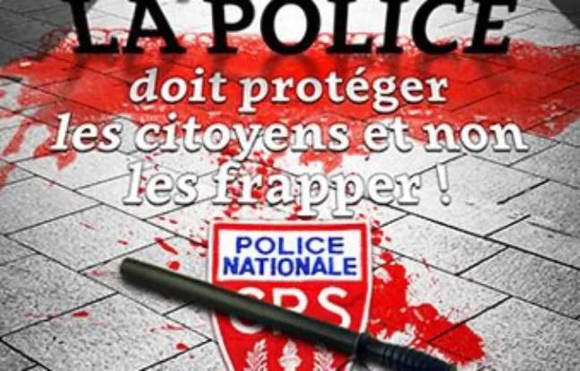 L'affiche de la CGT contre les violences policières sortie le 16 avril 2016 sur le site infocomcgt.fr.