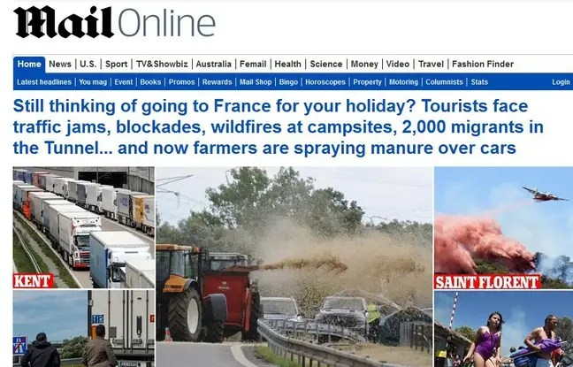Capture d'écran du site Internet du «Daily Mail» le 28 juillet 2015.