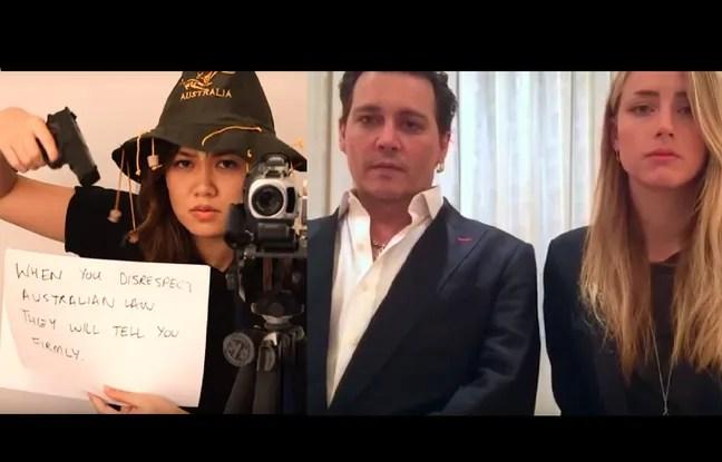 Capture de la vidéo parodique des excuses de Johnny Depp et Amber Heard, par community channel.