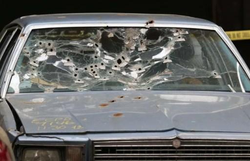 Le véhicule du couple de noirs abattu par la police à Cleveland