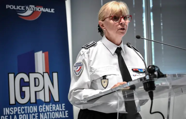 La cheffe de l''IGPN, Brigitte Jullien, présente le rapport 2018 de la police des polices