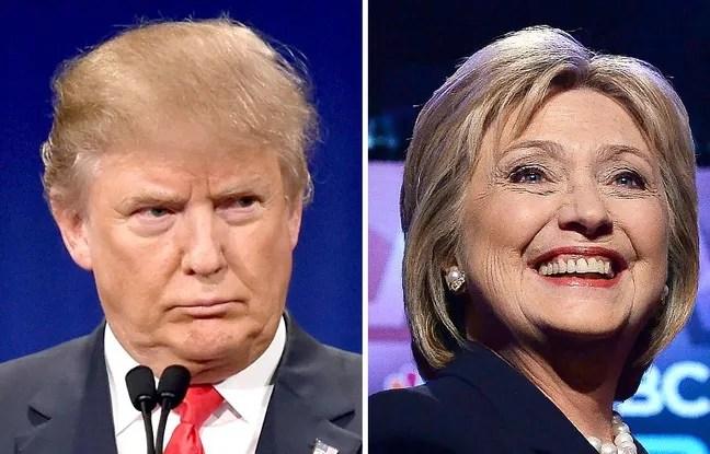 Donald Trump et Hillary Clinton, candidats républicain et démocrate des primaires américaines.