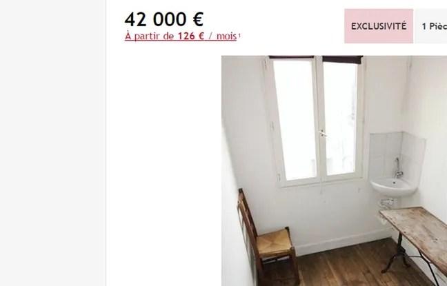 L'appartement, situé dans le 10e arrondissement, est vendu 42 000 euros