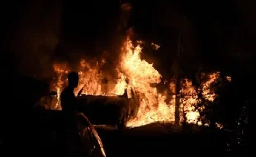 Le feu a pris vers 21h, samedi soir...