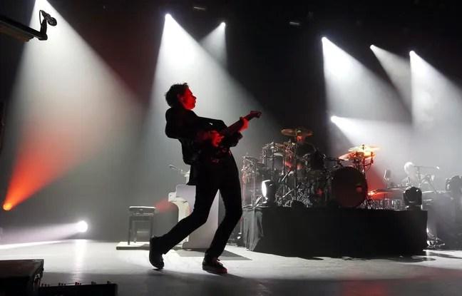 Le groupe Muse en concert à l'Olympia à Paris.