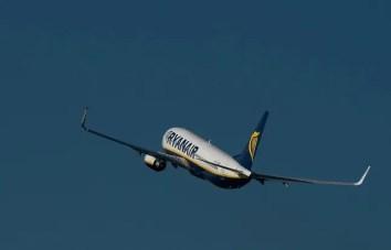 Un avion de Ryanair.