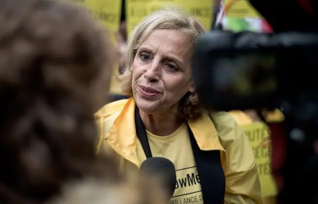 Geneviève Garrigos, présidente d'Amnesty International France, le 4 mai 2015 à Paris.