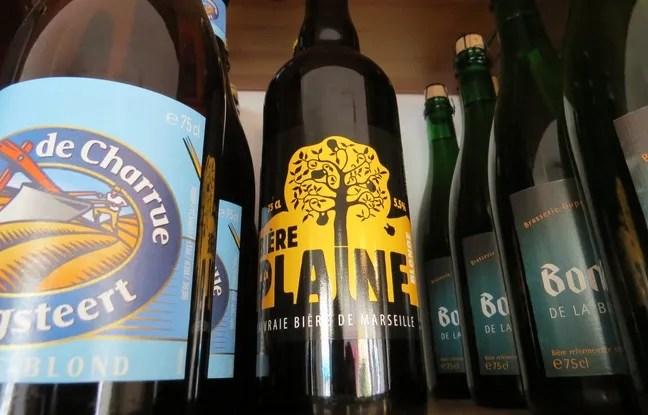 Les bières artisanales locales comme ici la bière de la Plaine ont de plus en plus de succès.