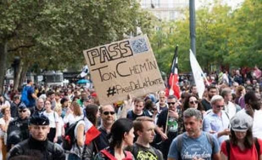 Manifestation contre le pass sanitaire, samedi 25 septembre 2021 à Paris (illustration)