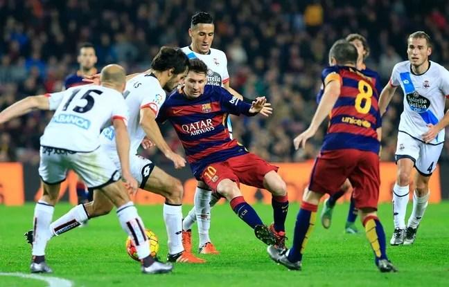 L'attaquant du FC Barcelone Lionel Messi, le 12 décembre 2015 au Camp Nou.