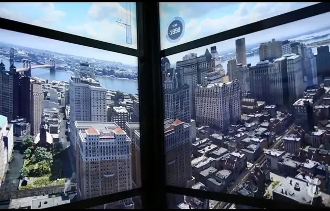L'animation de la construction de la ville de New-York