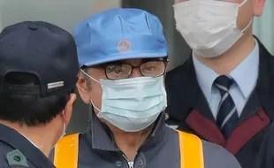 Tokyo, le 06 mars 2019. Carlos Ghosn, l'ancien patron de Renault, sort de prison après 108 jours de détention.