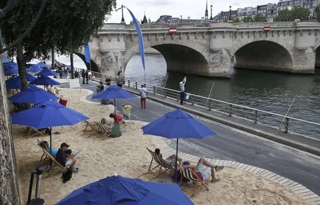Illustration de Paris Plage le 20 juillet 2015 à Paris.