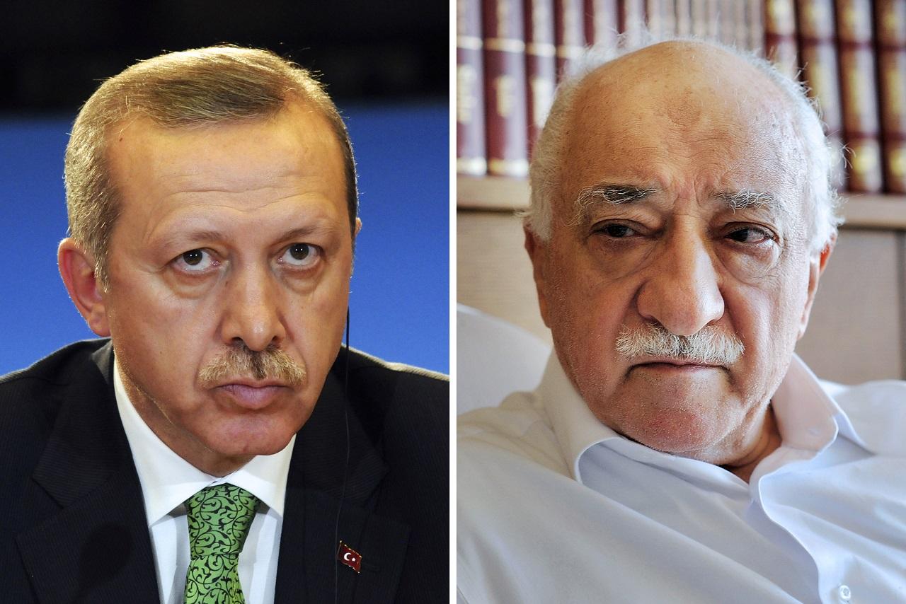 Erdogan és Gülen (AFP)