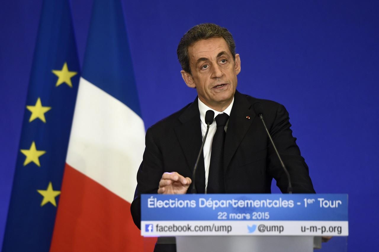 Nicolas Sarkozy volt államfő, az UMP elnöke (Fotó: Dominique Faget / AFP)