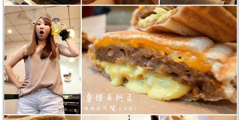 【台南東區】T&F 手作吐司,黃澄澄牽絲的起司,搭配著吐司真好吃!多款造型杯讓你一次蒐集完!