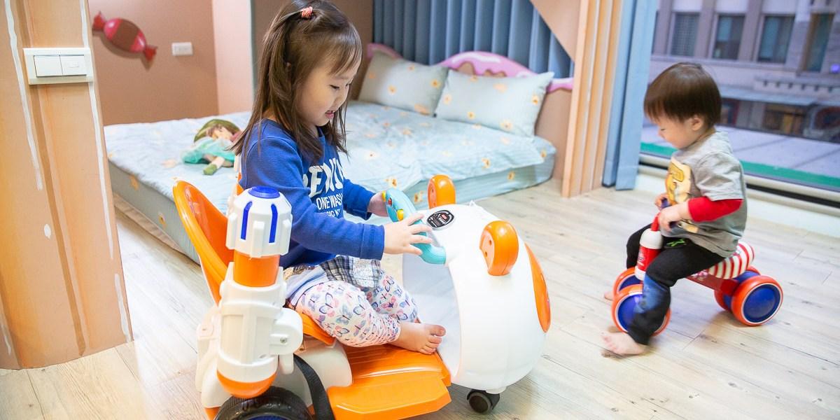 【台南親子民宿】離花園夜市只要10分鐘,房間內有溜滑梯讓小孩玩瘋了的傑克堡親子民宿!