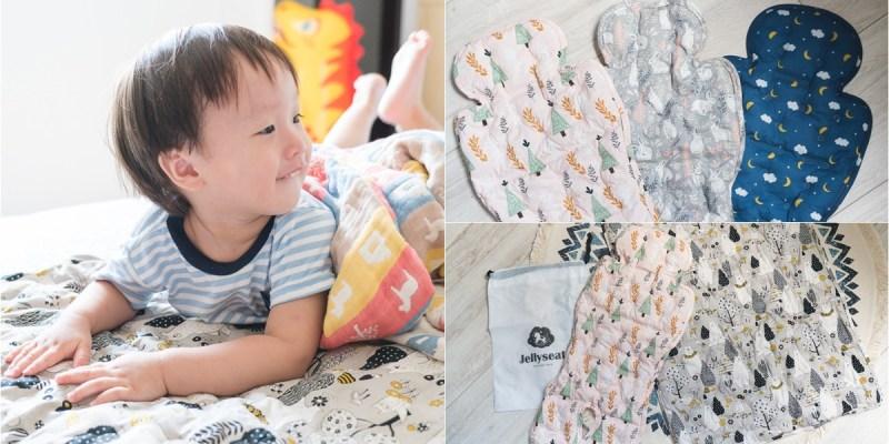  育兒 夏天媽媽們的必備武器~韓國Jellyseat 2019獨家微顆粒果凍涼珠有機棉酷涼墊,還有獨家床墊唷!