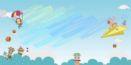 春天卡通水彩彩虹兒童手繪風開學季草地背景免費下載_覓知網