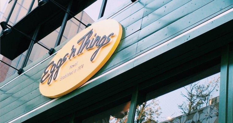 東京美食  原宿下午茶 ,夏威夷超人氣鬆餅東京店Eggs'n Things