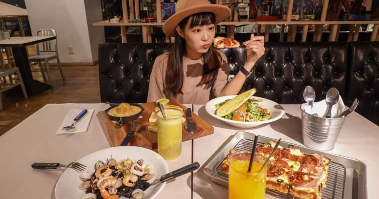 台北美食|西門町意舍酒店吃吧餐廳,融合西門街頭與文青元素的美式義式料理