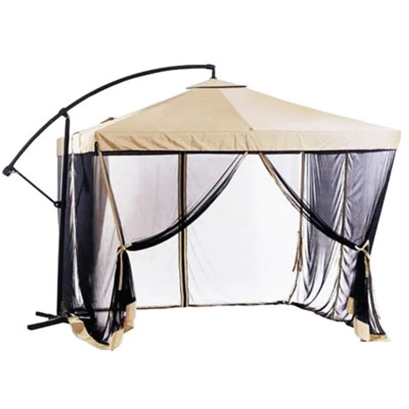 new in box 9x9 feet offset umbrella with mosquito net netting bug repellent tent gazebo canopy out door patio cross stand included 100 firm