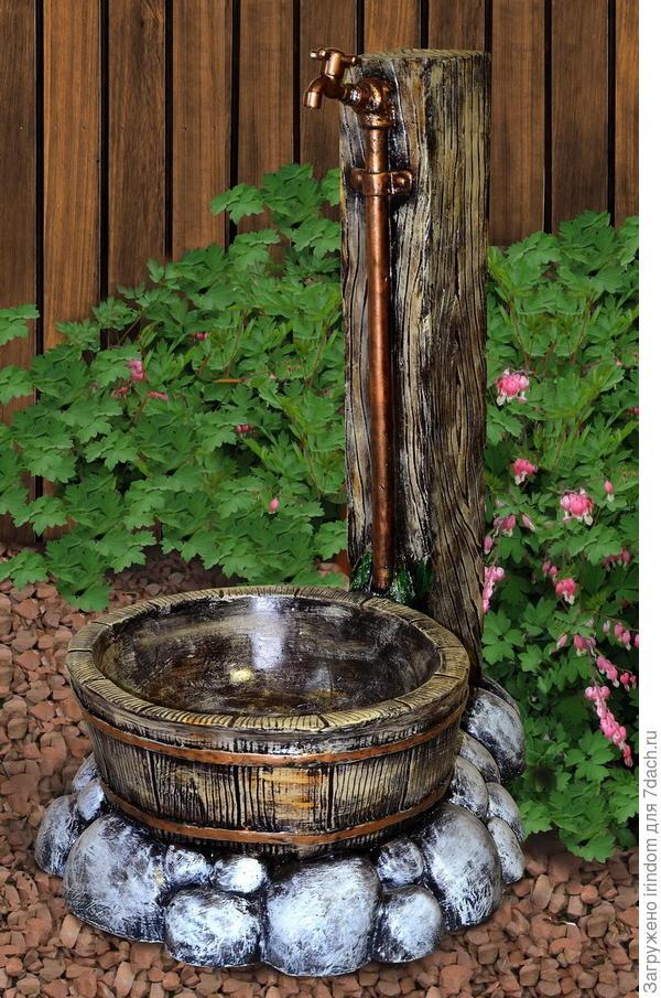 Как декоративно оформить подводку воды на участок