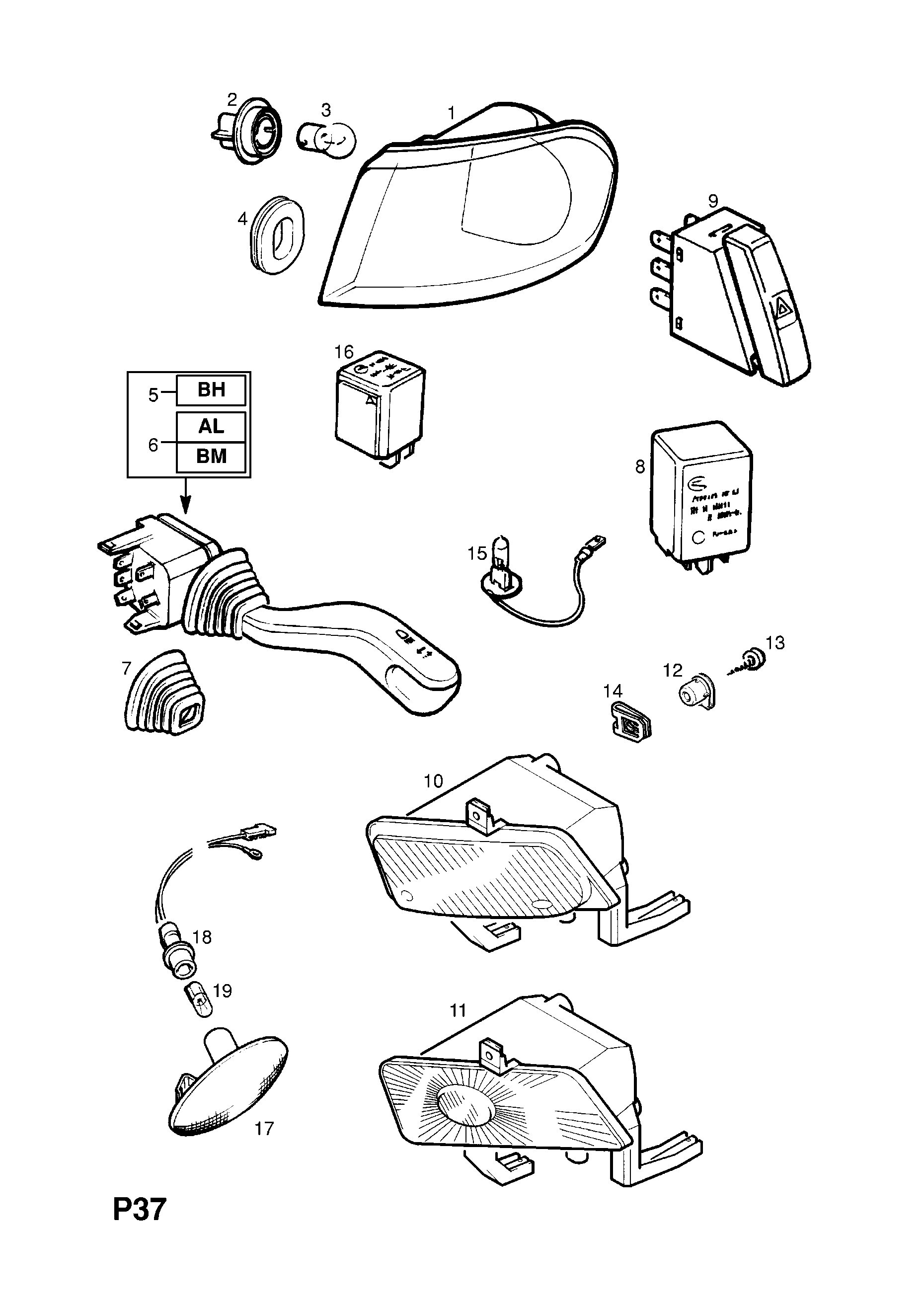 Front Turn Signal Lamp And Fixings For Vehicles With