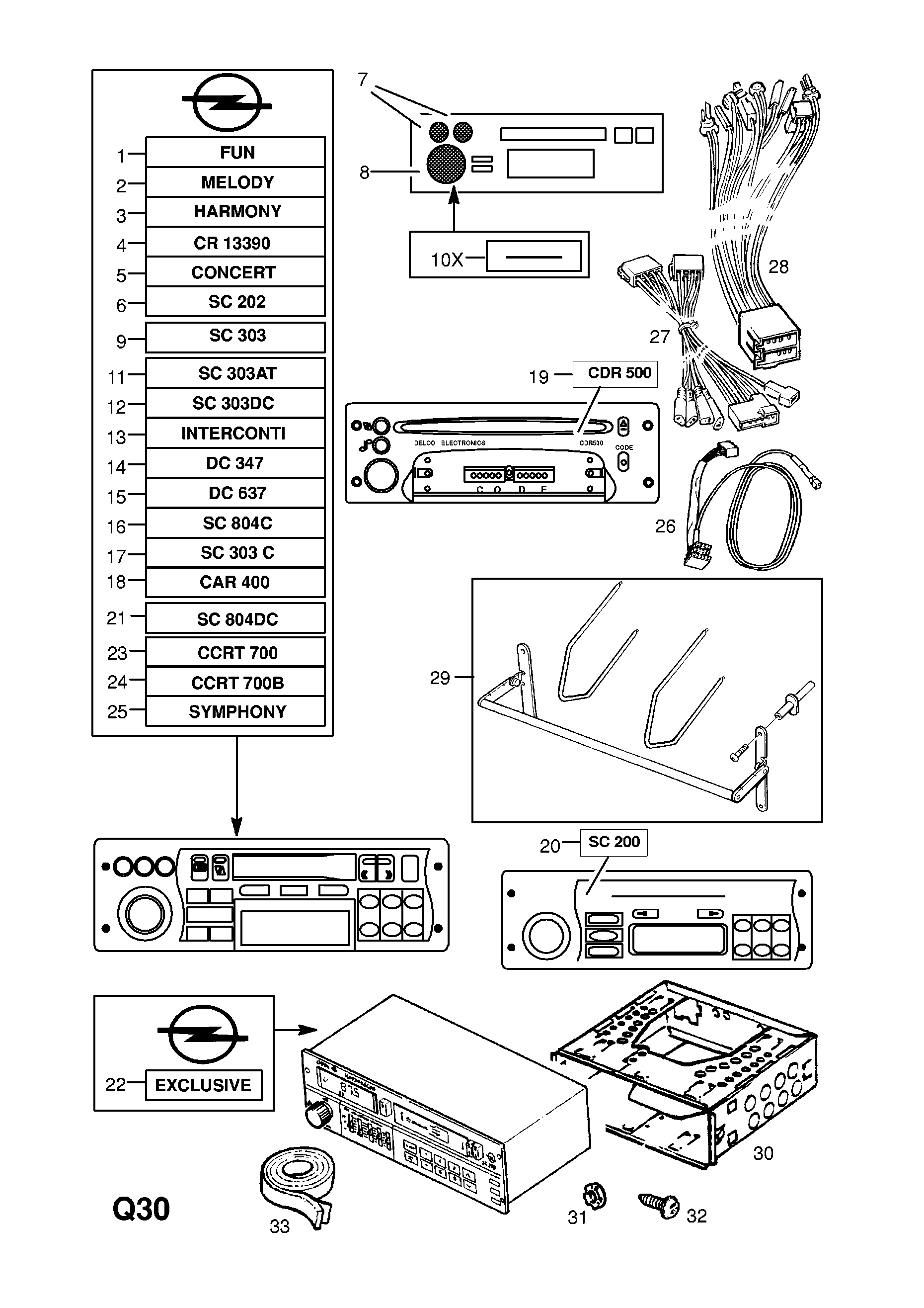 Radio And Cassette Player Except Vauxhall Opel Corsa B