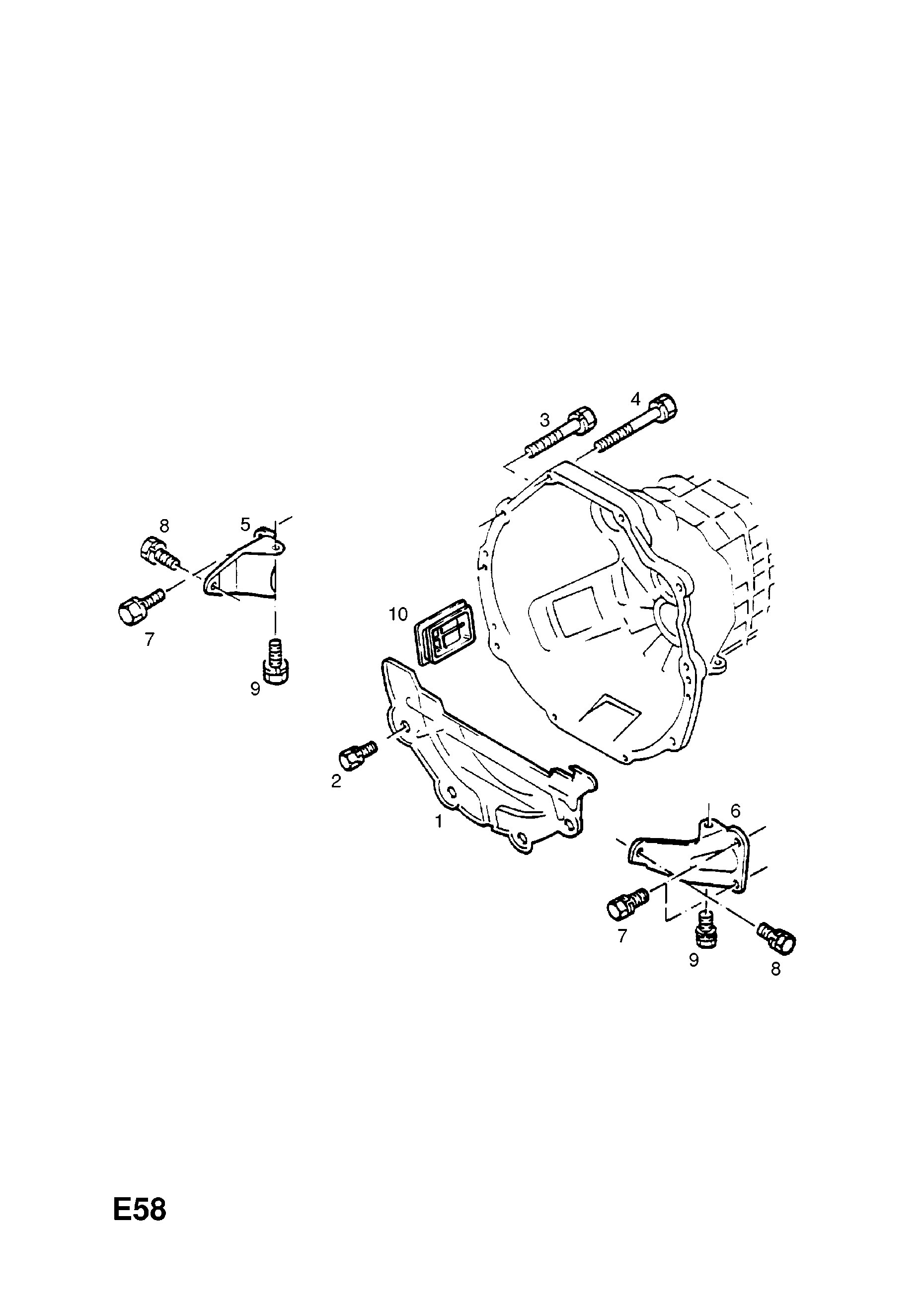 Clutch Housing And Fixings Used With Manual Transmission