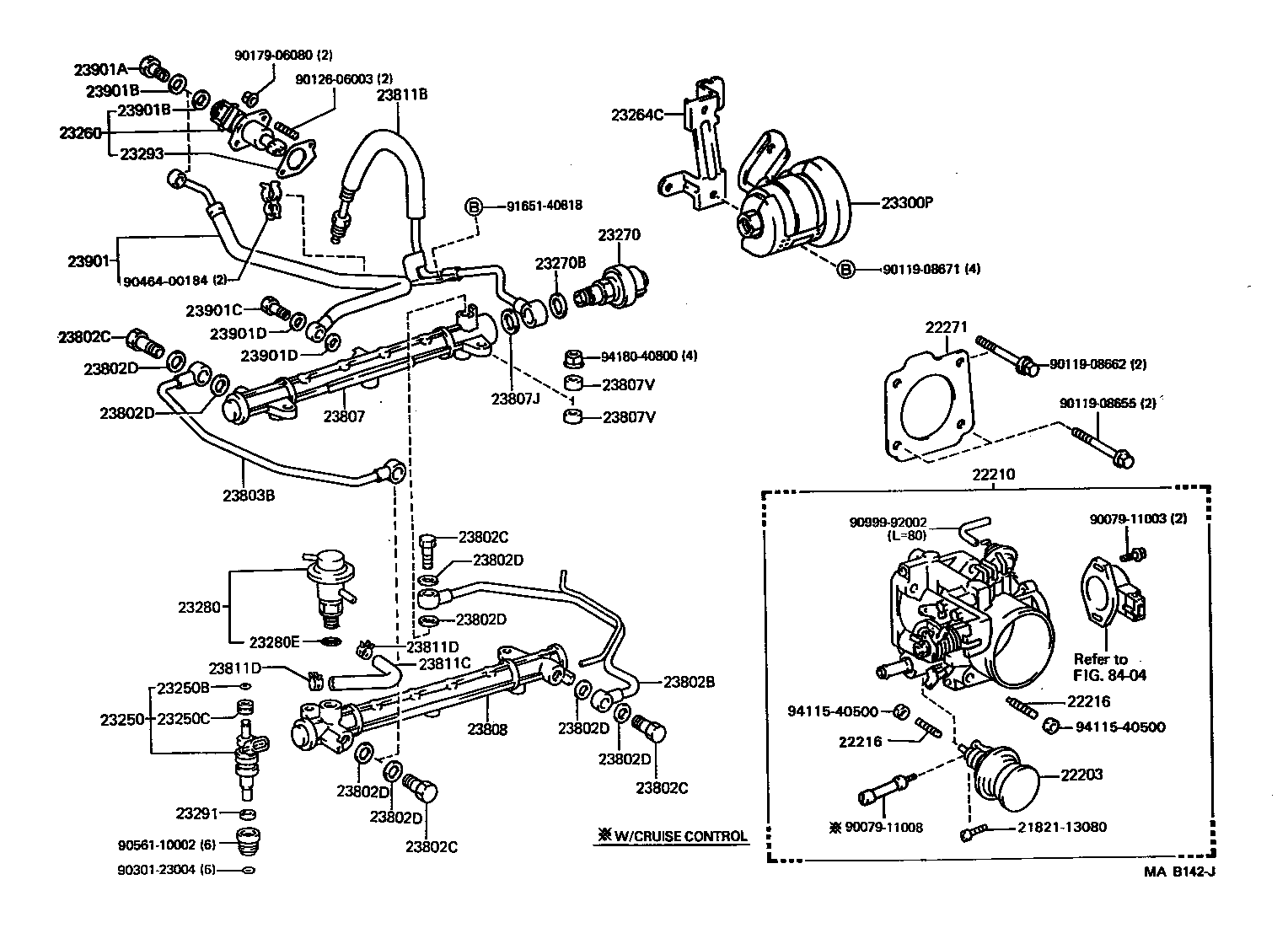 Fuel Injection System Illust No 1 Of 2 3vze P