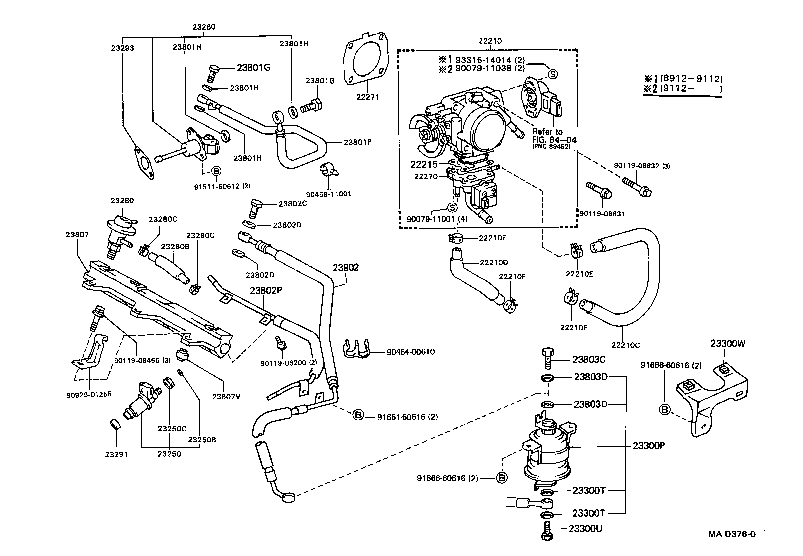 Fuel Injection System Illust No 1 Of 2 3sge