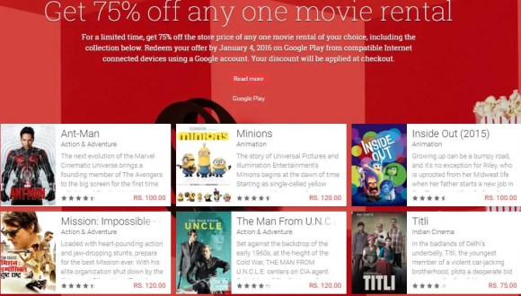 Google Play year-end Movies deal