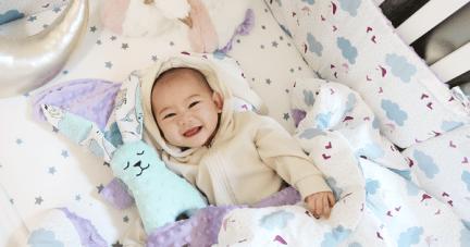 【催眠寶寶的魔法被毯|歐洲La Millou豆豆毯。豆豆兔。豆豆枕。安撫巾。豆豆雞。床圍】