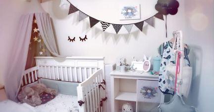 【法式風格 刺繡嬰兒床圍.床包】