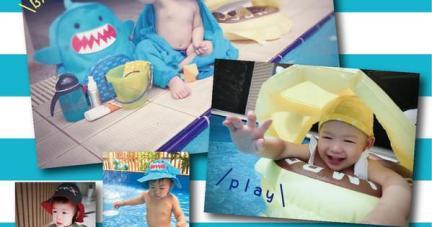 【夏日寶寶戲水趣 | 加拿大flapjacks雙面遮陽帽+美國zoocchini動物泳裝】